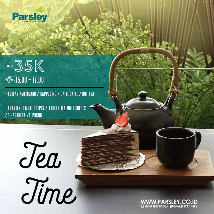 Tea Time at Parsley Bakery Laksda Adisucipto Yogyakarta