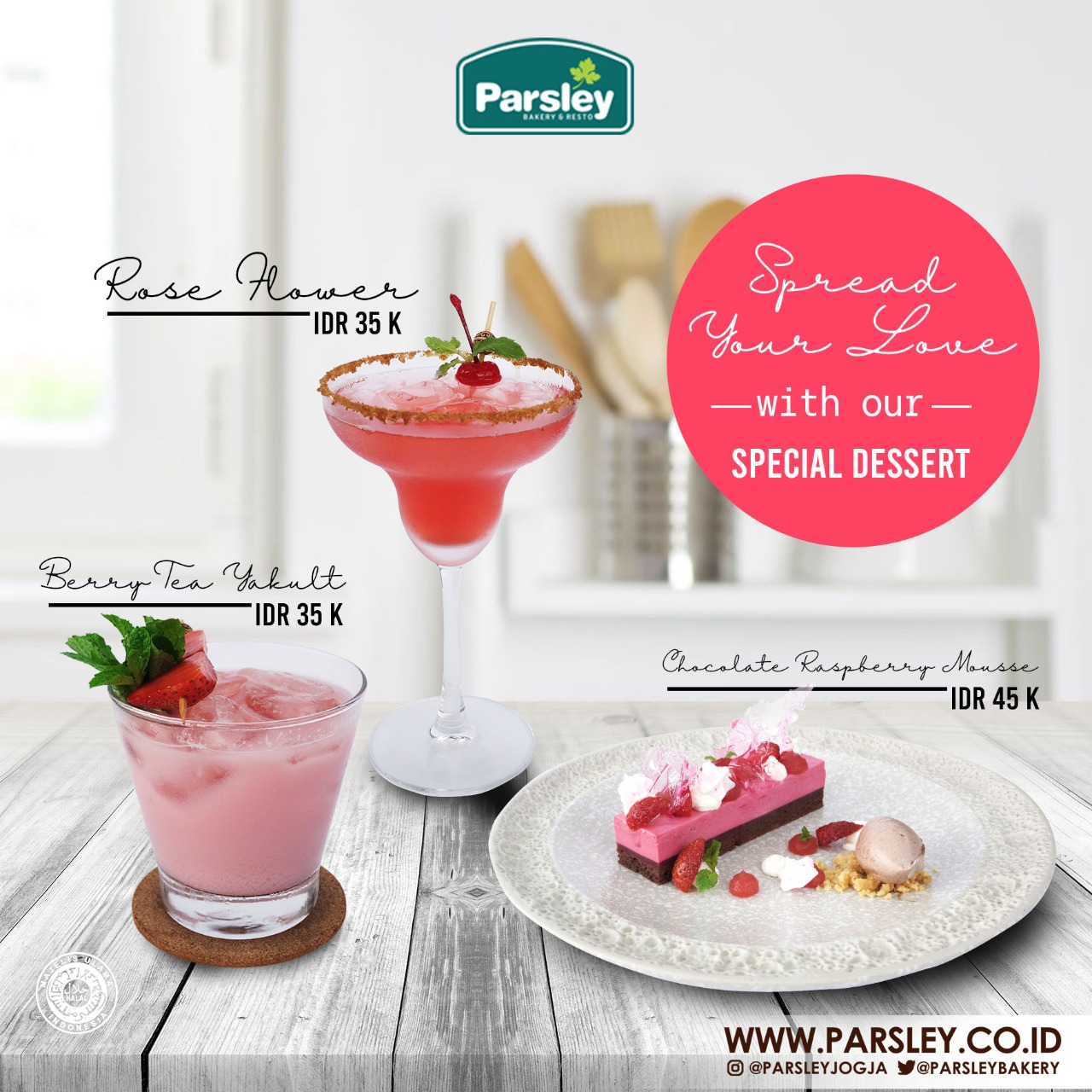 Promo Valentine 2020 di Parsley Resto Jakal & Seturan