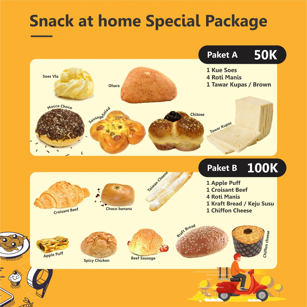 Snack at Home Special Package (A & B)