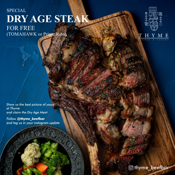Special Dry Age Steak For Free (Tomahawk or Prime Ribs)