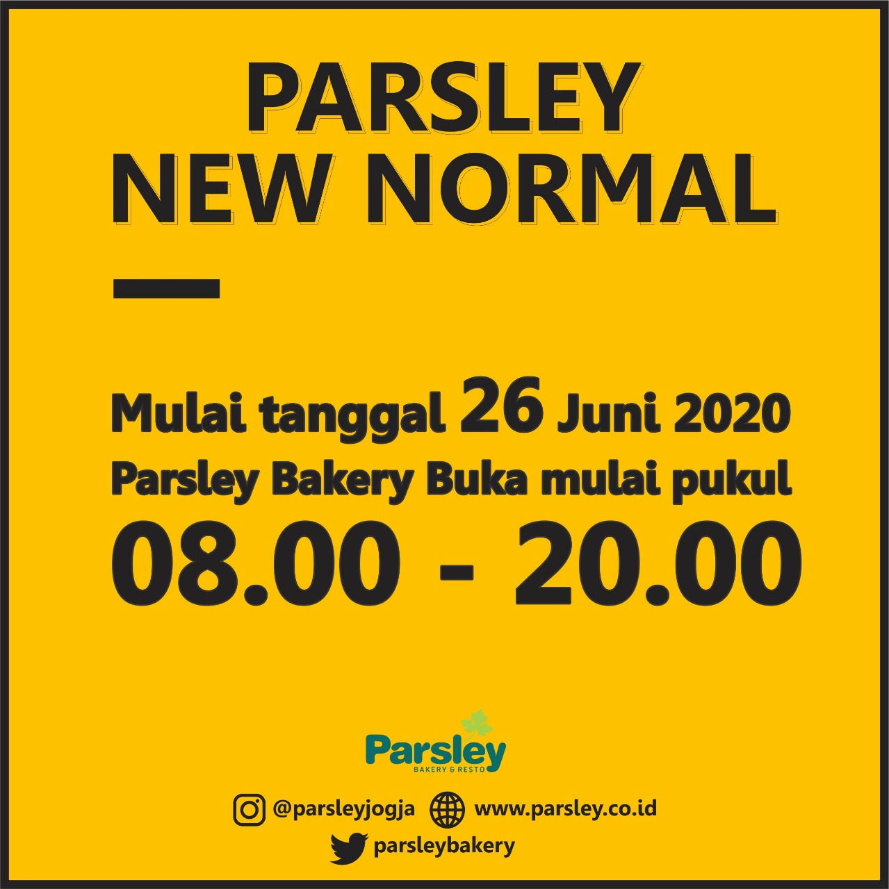 Operasional Parsley New Normal