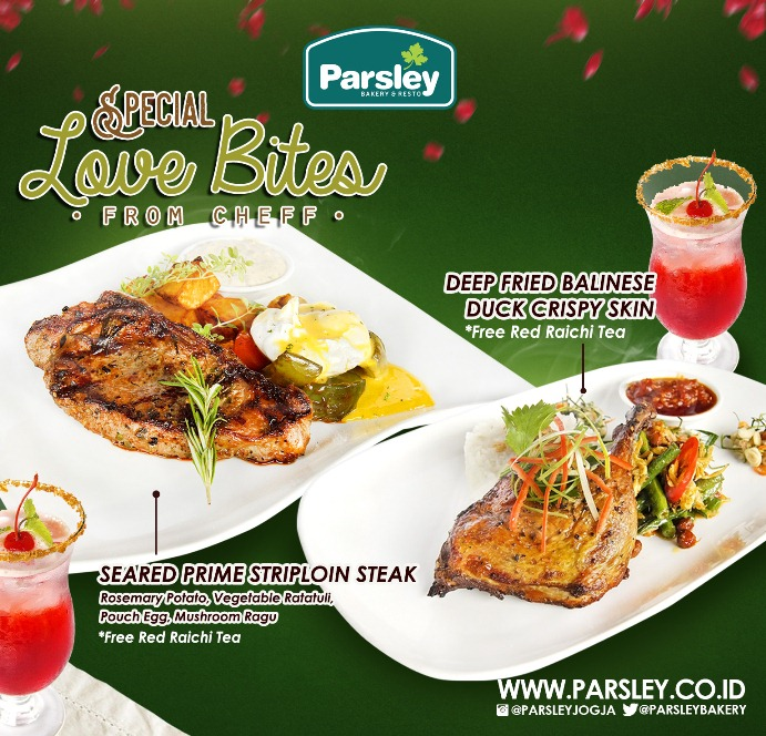 Menu promo Parsley Resto Jl Kaliurang & Seturan.