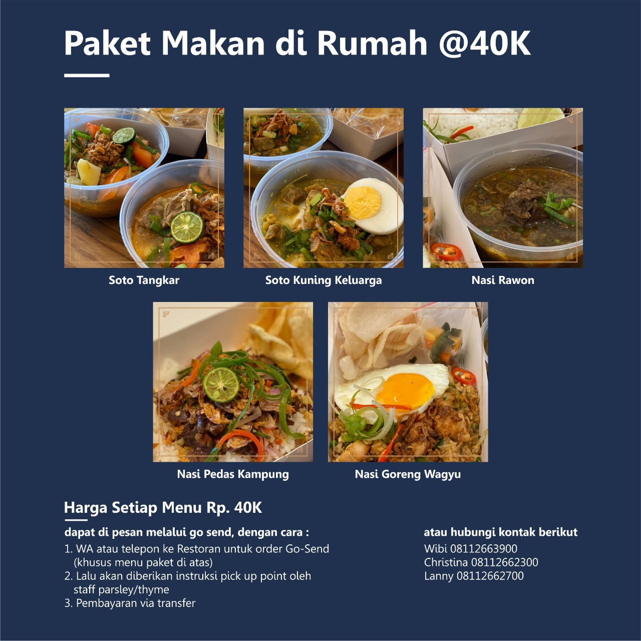 Eat at Home Package