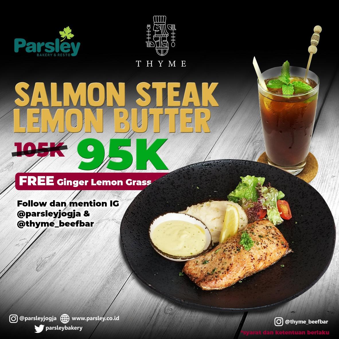 PROMO SALMON STEAK LEMON BUTTER 95K