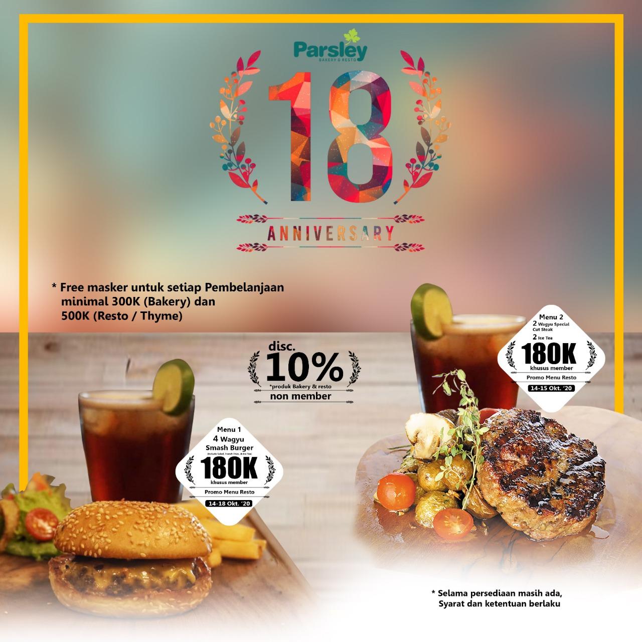 HUT Parsley ke-18 Promo Restaurant